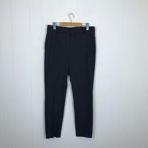 Zara Houndstooth Black/Gray Trousers Sz 10